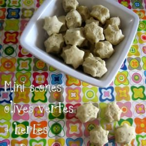 simple à préparer Mini scones aux olives vertes et au herbes de Provence cuisine végétarienne