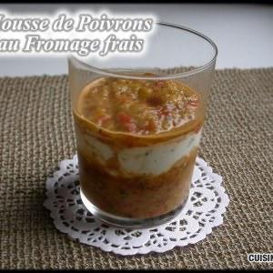 simple à préparer Mousse de Fromage frais aux Poivrons recette
