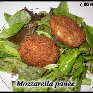 rapide à cuisiner Mozzarella panée cuisine végétarienne