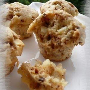 rapide à cuisiner Muffins au chocolat blanc & aux pépites de nougatine recette