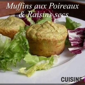 facile à cuisiner Muffins aux Poireaux & Raisins secs recette