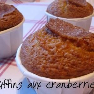 simple à préparer Muffins aux cranberries cuisine végétarienne