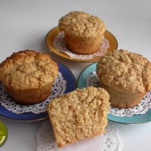 rapide Muffins aux flocons d'avoine, à la pomme et au sirop... recette de