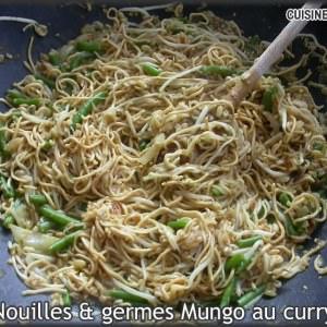 simple à cuisiner Nouilles et germes mungo au curry préparer la recette