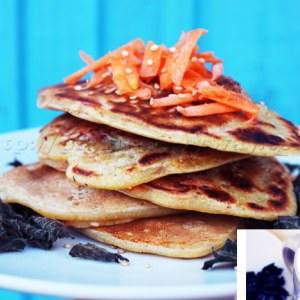 facile Pancakes Salés Carottes et Orties préparation