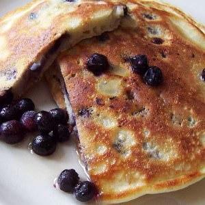 simple à préparer Pancakes aux bleuets préparer la recette