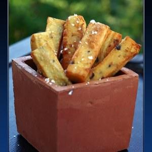 rapide Frites de pois chiches préparation