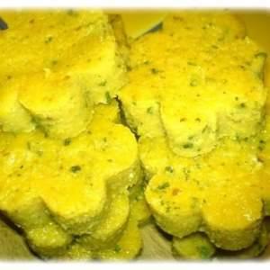 simple à préparer Petite Polenta en sablés arômatisée à la morille recette végétarienne