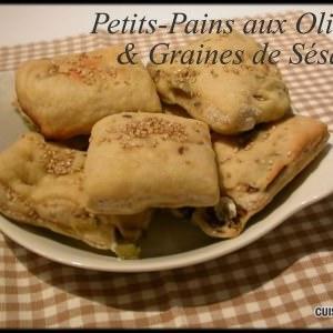 simple à cuisiner Petits-Pains aux Olives & Graines de Sésame recette végétarienne