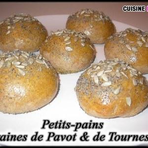 rapide Petits-Pains aux graines de Pavot & de Tournesol recette de
