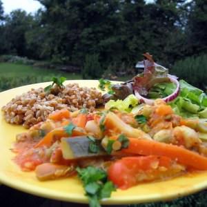 simple à préparer Pilaf de petit épeautre aux légumes  préparation