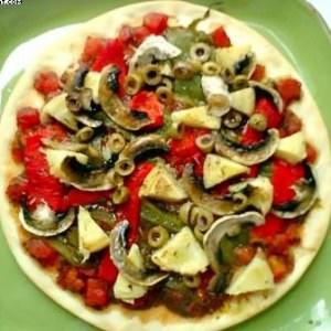 rapide Pizza aux Poivrons cuisiner la recette
