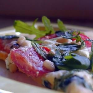 facile à cuisiner Pizza roquetta recette végétarienne