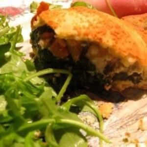 simple à préparer Pizza soufflée aux épinards recette végétarienne