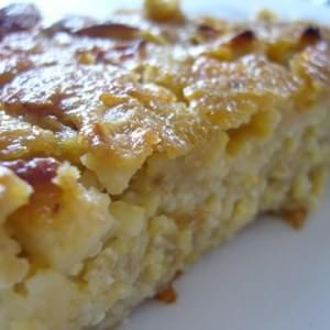 rapide à cuisiner Pudding de flocons 5 céréales aux pommes  préparer la recette