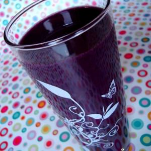 simple à cuisiner Purple smoothie recette