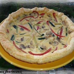 simple à cuisiner Tarte au poivron et à la courgette cuisiner la recette
