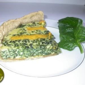 facile Quiche aux Epinards frais et au Cheddar cuisine végétarienne