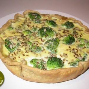 rapide Quiche aux brocolis et aux graines recette végétarienne