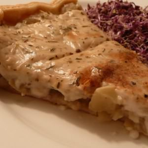 rapide à cuisiner Tarte à la courge pâtisson recette de