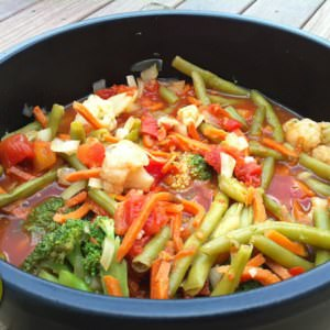 simple à cuisiner Curry de légumes préparation