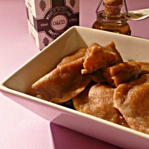 facile Raviolis de châtaignes aux truffes et potimarron préparation