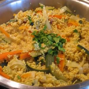 rapide Risotto de millet aux légumes cuisiner la recette