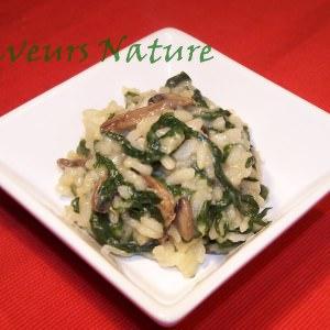simple à cuisiner Risotto épinard champignon cuisine végétarienne