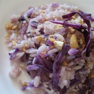 facile à cuisiner Riz au choux rouge recette végétarienne