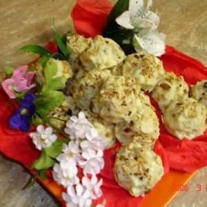 facile Roses des sable au chocolat blanc et orangettes préparation