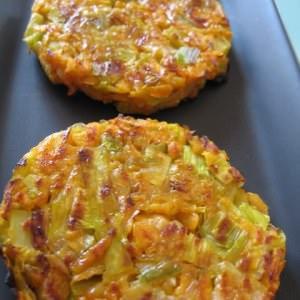 rapide à cuisiner Röstis de poireaux et de patate douce préparation