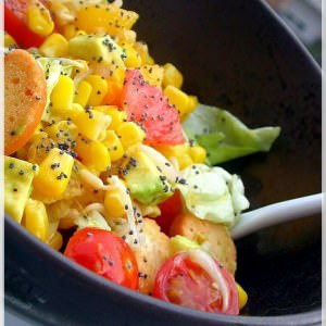 rapide Salade vitaminée aux agrumes recette végétarienne