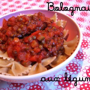 simple à cuisiner Sauce Bolognaise aux légumes cuisine végétarienne