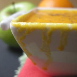 rapide à cuisiner Soupe de carottes aux fruits et curry jaune cuisiner la recette