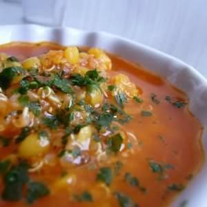 rapide à cuisiner Soupe de lentilles corail au quinoa  recette végétarienne