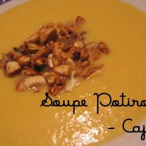 rapide Soupe de potiron aux noix de cajou caramélisées cuisiner la recette