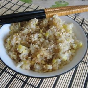 facile Trio quinoa, lentilles corail et riz thai recette végétarienne