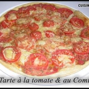 rapide Tarte à la tomate et au comté recette végétarienne