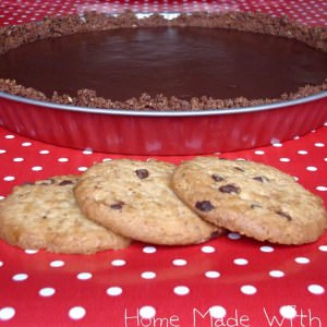 simple à préparer Tarte au chocolat sur pâte sablée aux cookies recette végétarienne
