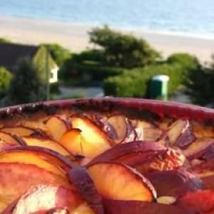facile à cuisiner Tarte aux Brugnons & crème d'amande recette végétarienne