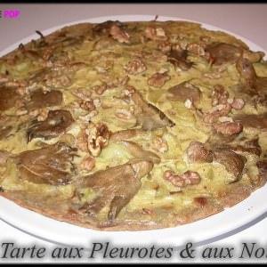 simple à préparer Tarte aux Pleurotes et aux noix cuisine végétarienne
