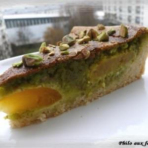 simple à préparer Tarte aux abricots et à la pistache cuisine végétarienne