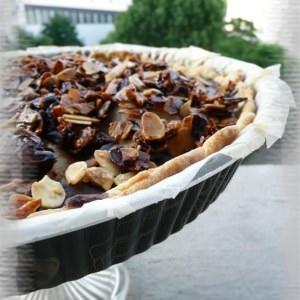 simple à cuisiner Tarte aux poires et au chocolat recette de
