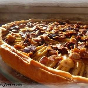 rapide à cuisiner Tarte aux pommes croustillante à la crème de cannelle recette de