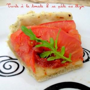 facile Tarte à la tomate et sa pâte au thym cuisine végétarienne