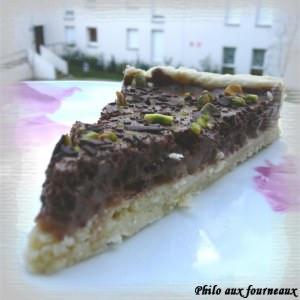 simple à préparer Tarte mousseuse au chocolat et poires poêlées au miel cuisiner la recette