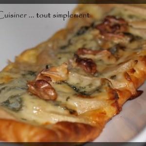 simple à cuisiner Tartelettes Poire Roquefort Noix recette végétarienne