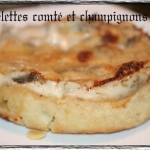 facile à cuisiner Tartelettes comté & champignons recette