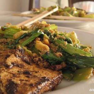 simple à préparer Tofu et bok-choy aux cacahuètes cuisiner la recette