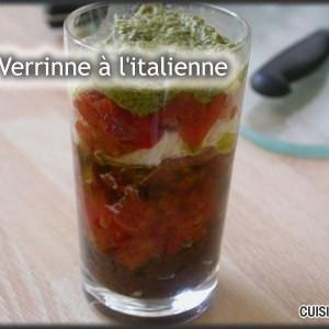 facile Verrines à l'italienne recette végétarienne